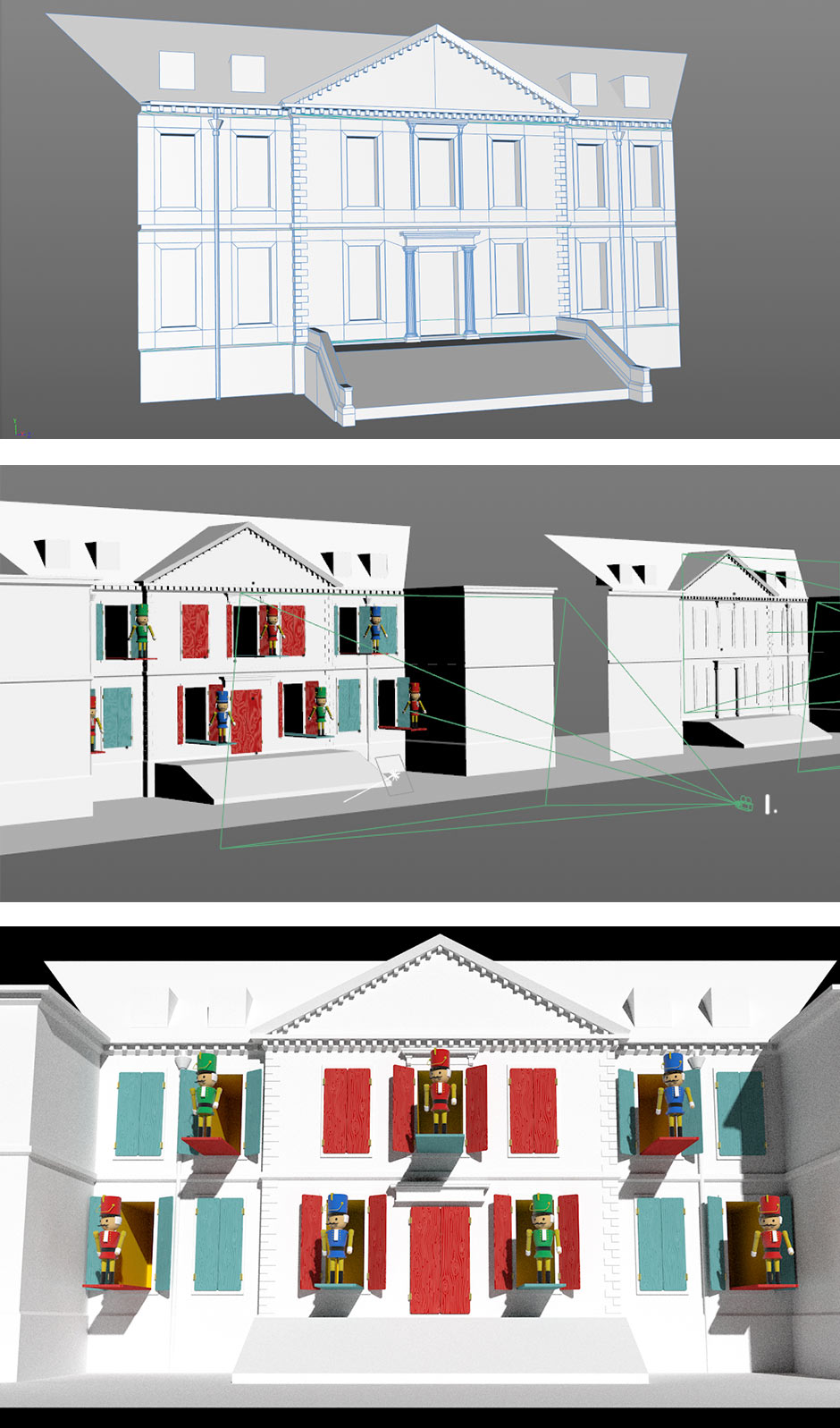 Projection mapping concepts for the National Trust property, completed by Katapult