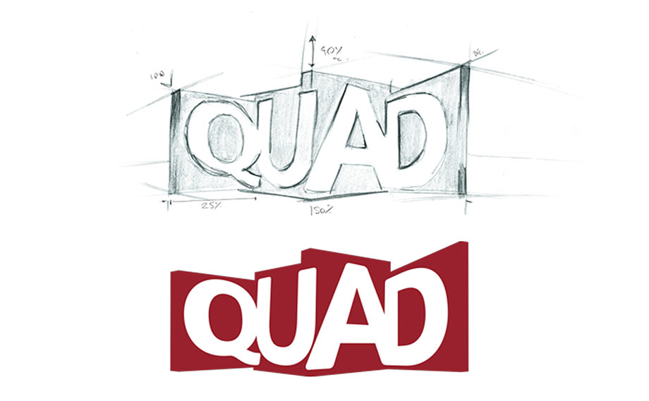 Derby QUAD logo and brand concept, created by Katapult