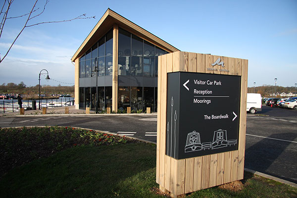 Mercia Marina signage and wayfinding, created by Katapult