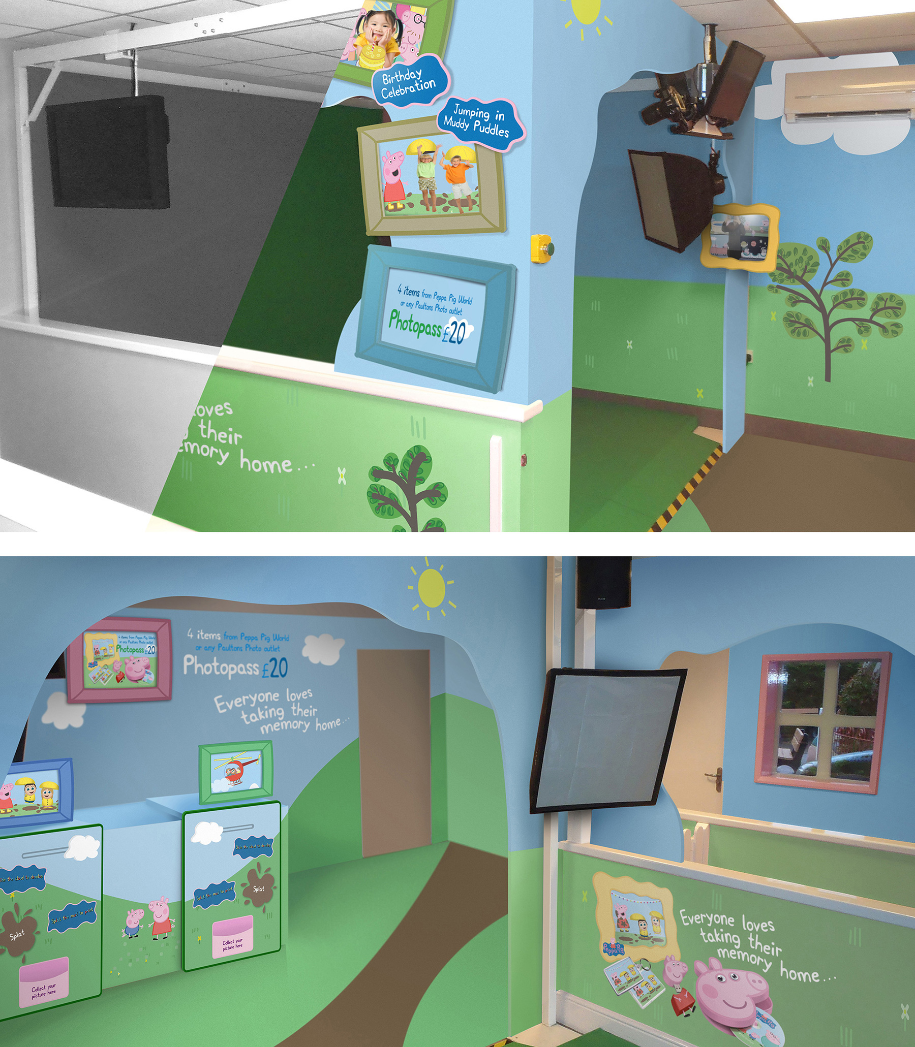 Theming for Peppa Pig at Paulton's Park, created by Katapult
