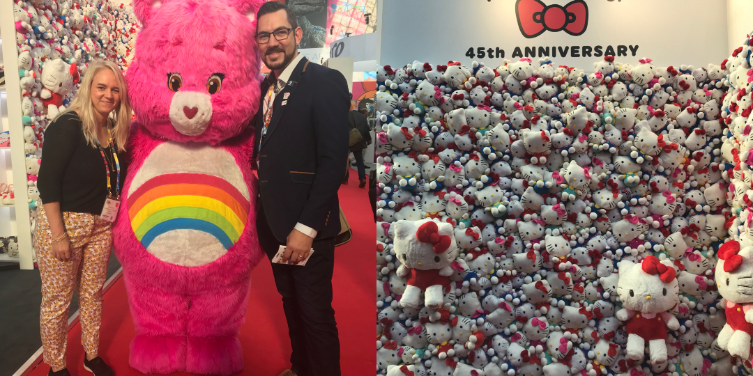 Kelly and Phil at the BLE with a Care Bear