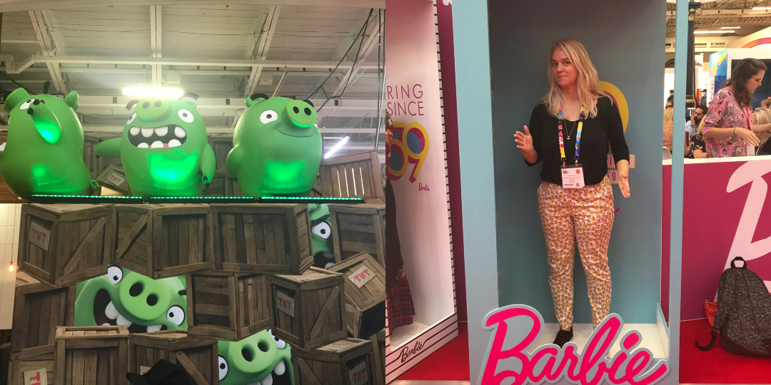 Angry Birds and Kelly as a Barbie at BLE