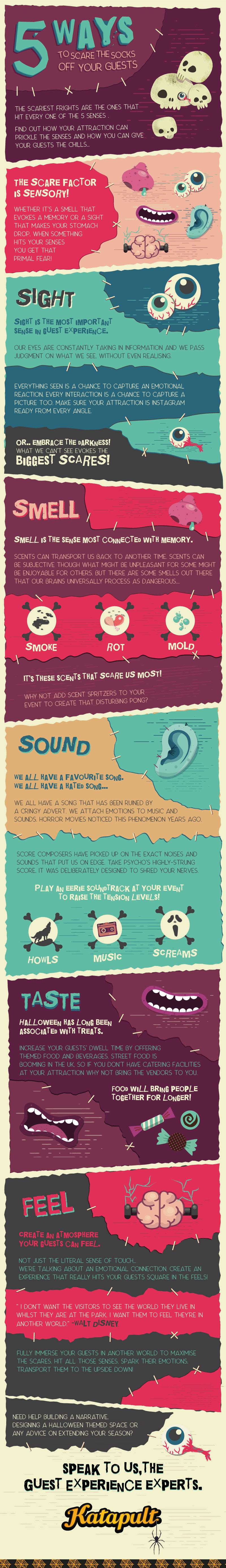 How to use the senses to create great guest experience this Halloween infographic
