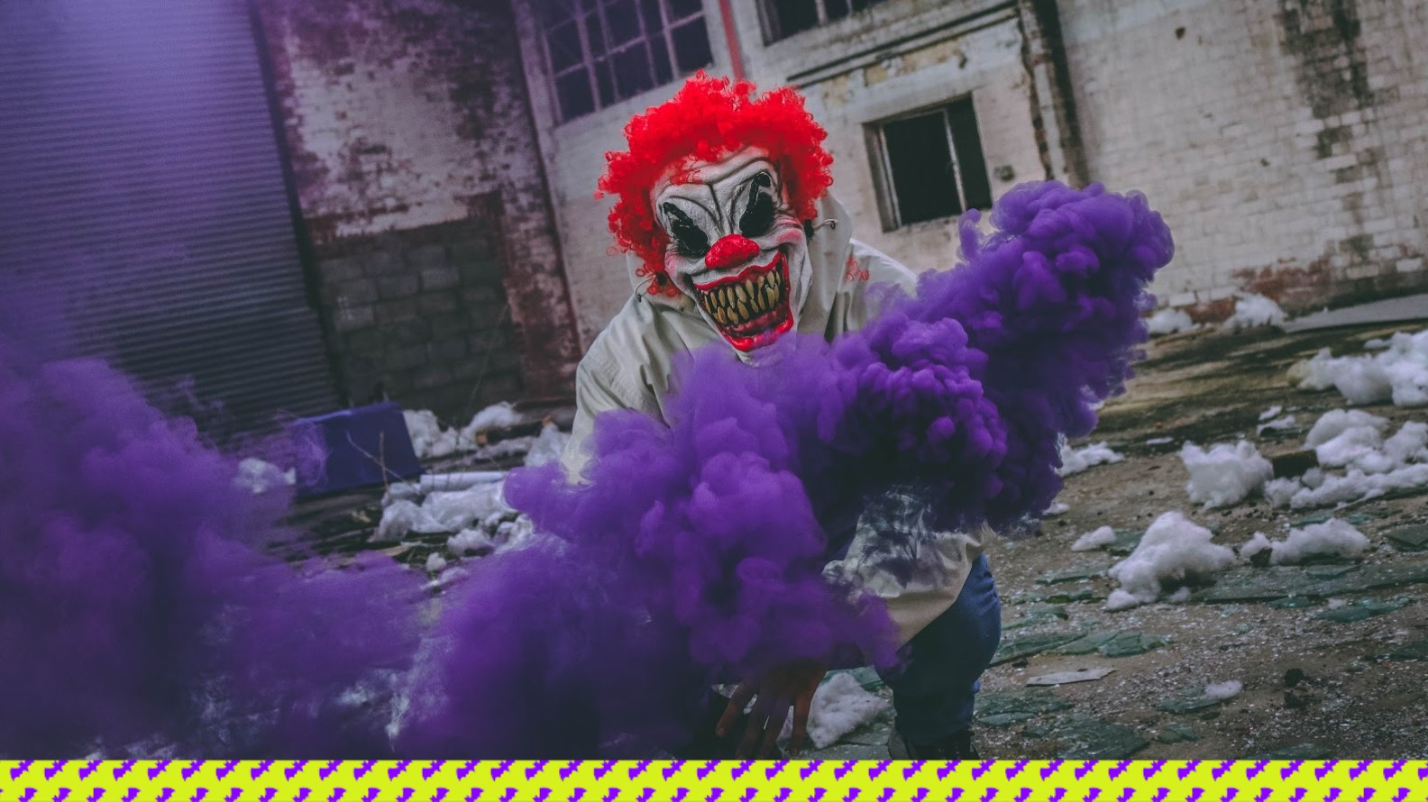 Clown with purple flare